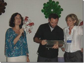 Placa de vidro feita para Marcelo Rosembaum